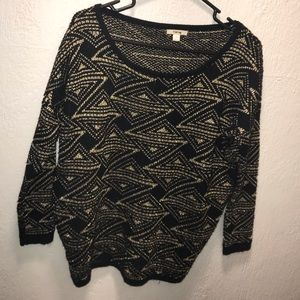Timing small black and gold sweater